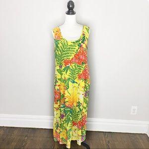 Vintage Jams World Tropical Floral Midi Dress
